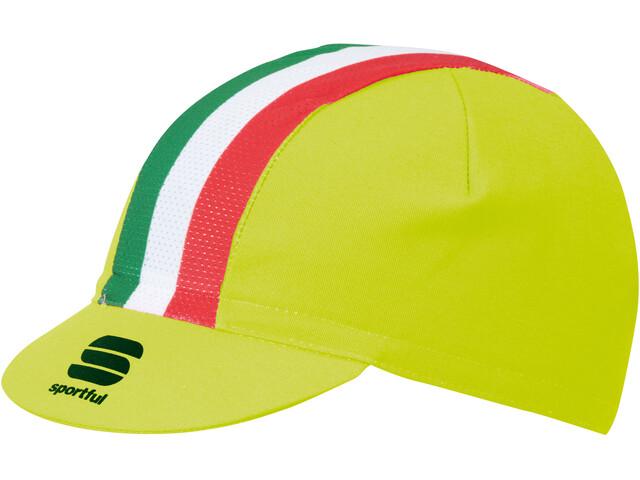 Sportful Italia Cap yellow fluo/tricolore